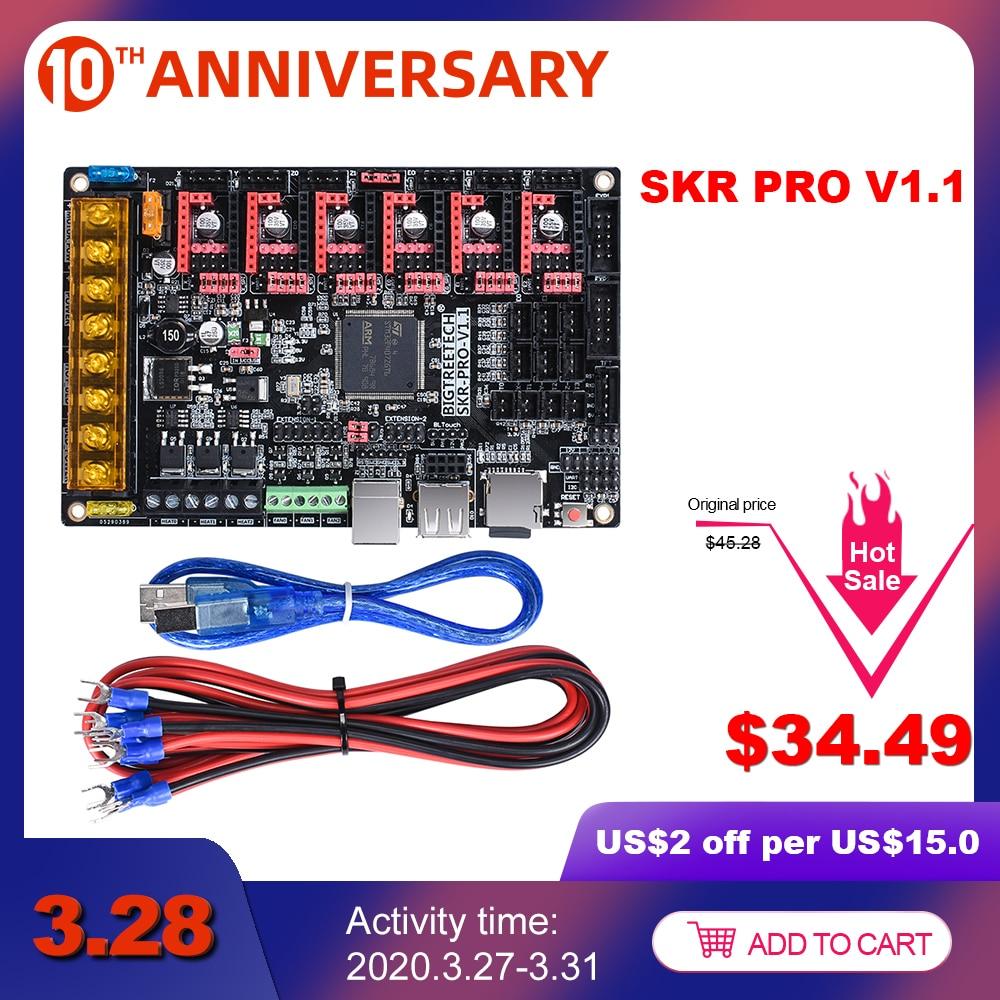 BIGTREETECH SKR PRO V1.1 32Bit Control Board 3D Printer Parts Vs S6 V1.2 SKR V1.3 RAMPS 1.4 A4988 TMC2208 Uart TMC2130 TMC2209