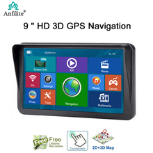 Auto GPS Navigator Fahrzeug 9 inch touch Screen wince 6,0 Auto GPS Navigation 256M + 8GB Lkw Navigation amerika Freies Karte
