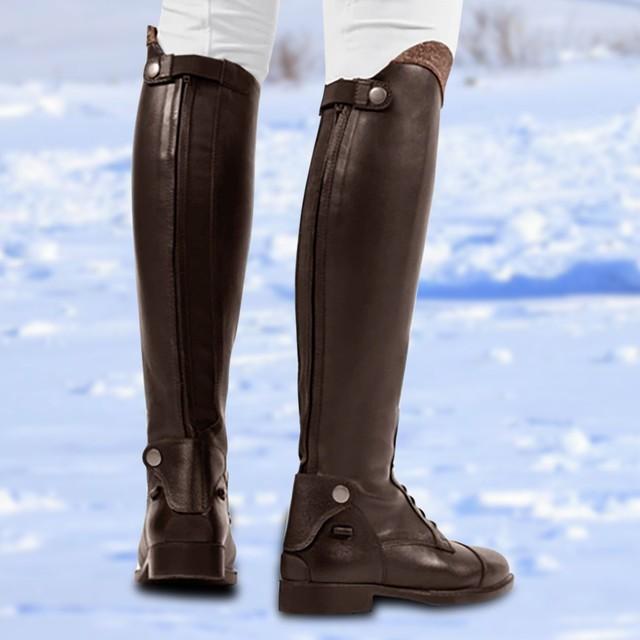 Womens Winter Retro Slip On Equestrian Riding Boots 3