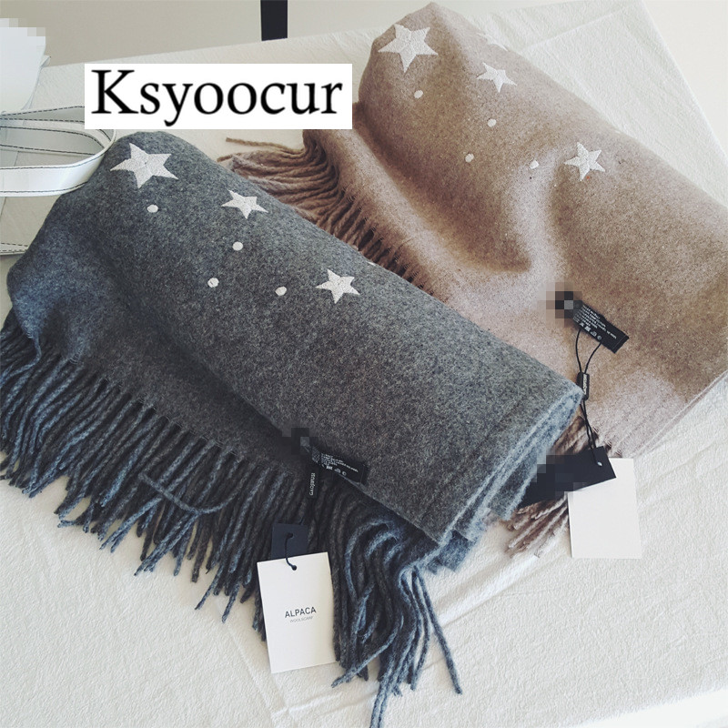 Size 190*65cm, 2020 New Autumn/Winter Long Section Cashmere Fashion Scarf Women Warm Shawls And Scarves Brand Ksyoocur E13