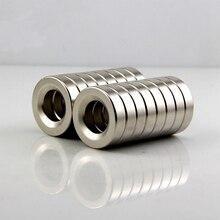 50 шт. супер сильные круглые редкоземельные магниты отверстие 3 мм N50 мини Магнитные NdFeB неодимовые потайные кольцевые магниты 8*3 мм Mayitr