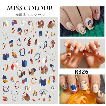 1 sheet water decal nail art Wraps DIY manicure nail stickers designer Abstract Image nail art decorations stickers nail decals 10pcs brand nail stickers linear flower pattern nail art decorations slider for nail manicure adhesive diy decals foil nail art