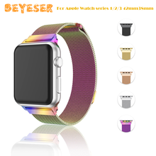 luxury Milanese Loop Bracelet Stainless Steel band For Apple Watch series 1/2/3 42mm38mm watch strap for iwatch with case