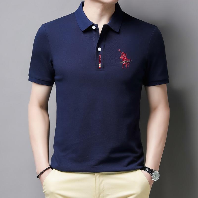 2021 summer new spot men's polo shirt high quality, men's short-sleeved lapel slim fit casual business social short-sleeved men'
