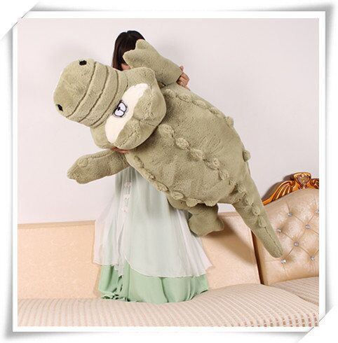 New Arrival 160cm Cute animals Big Size Simulation Crocodile Skin Plush Toy Cushion Pillow Toys For Girl kids toys
