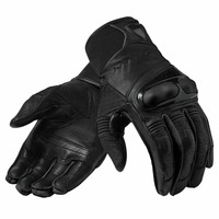 2020 Hyperion Mens Leather Gloves Black/Black Motorcycle Motocross Adventure Touring glove
