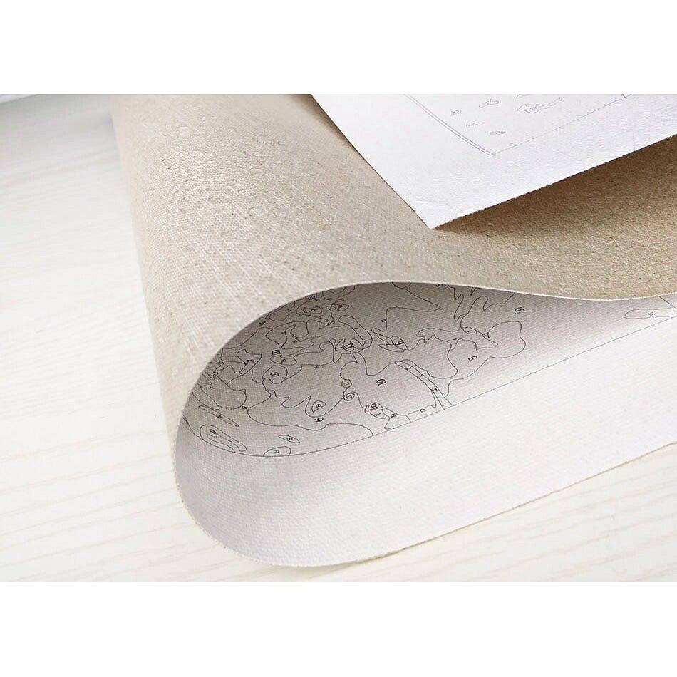 Oil Drawing Flower For
