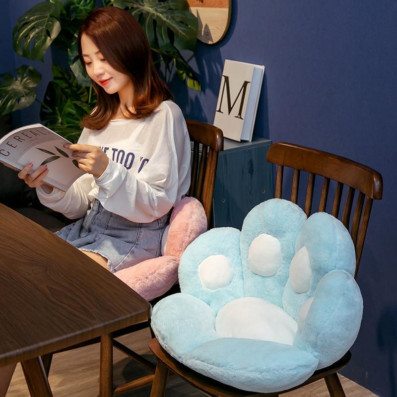 1 шт. 2 размеры Мягкая Лапа Подушка сиденье животных подушки плюша диван закрытый Чулочные изделия для дома, стула, зима, для детей, для девочек, подарок 3