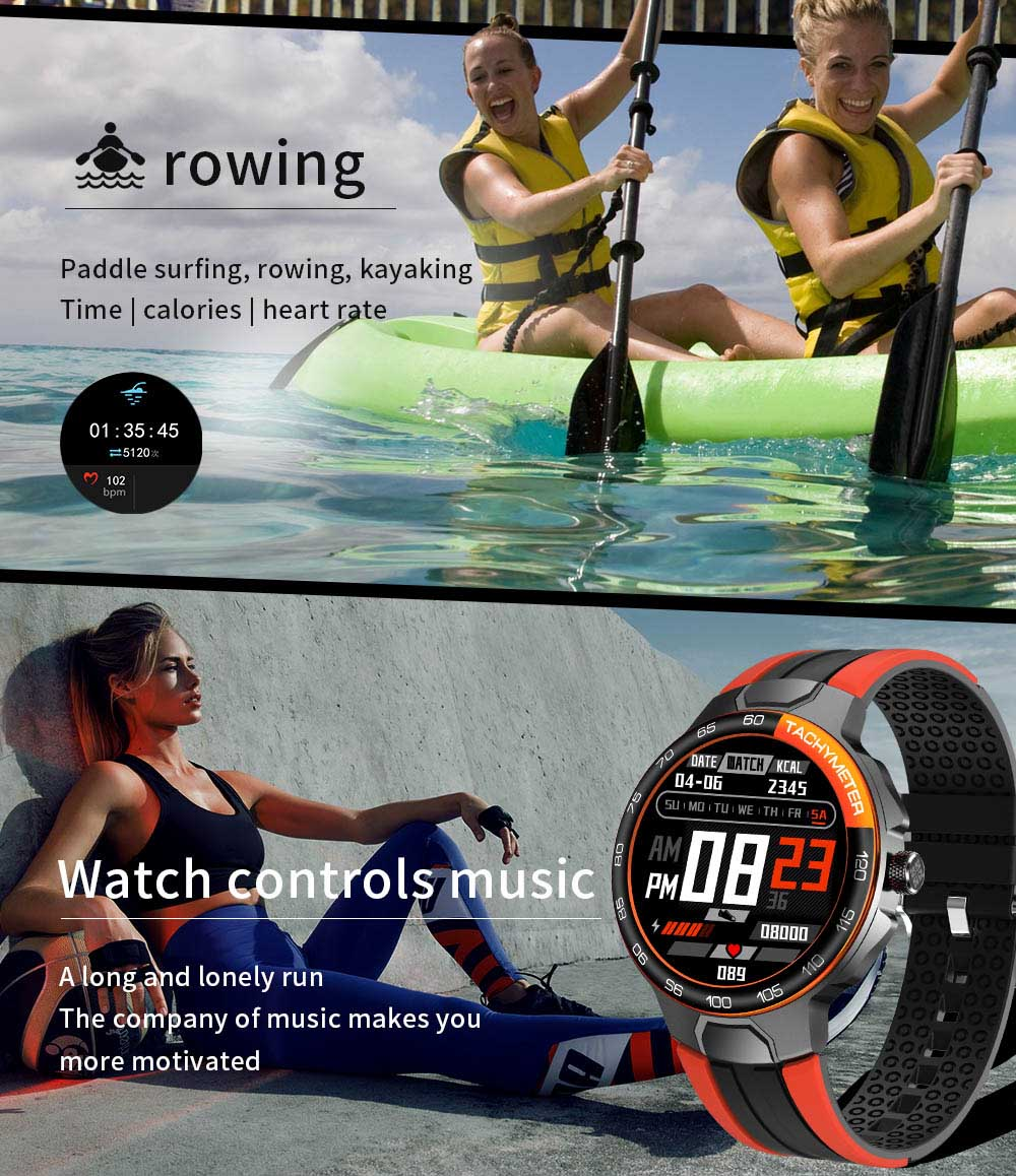 H31b010e119b14564b3a3ca09ccdf0cf29 Smart Watch Men Women IP68 Waterproof Bluetooth 5.0 24 Exercise Modes Smartwatch E1-5 Heart Rate Monitoring for Android Iosr A