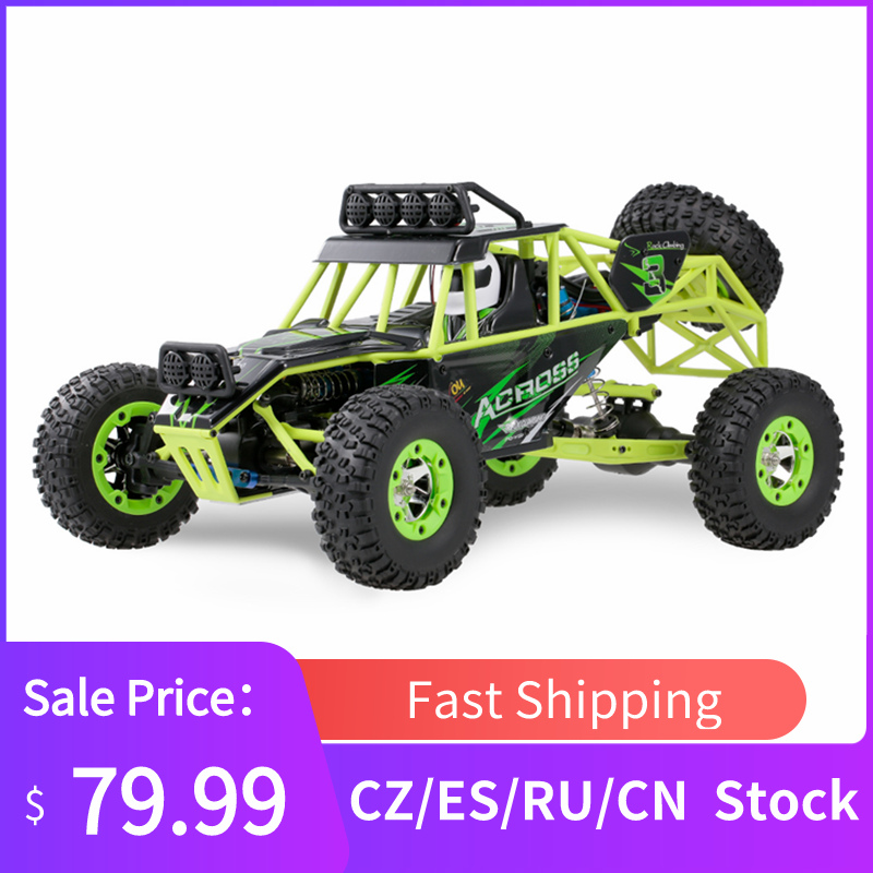 Wltoys Vehicle Remote-Control-Car Monster Rc Buggy 4WD High-Speed 50km/H 1/12
