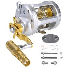 Sougayilang 14+1BB Drum Fishing Reel with Line Counter Aluminum Alloy Fishing Trolling Reel Right Handed Reel Fishing Tackle