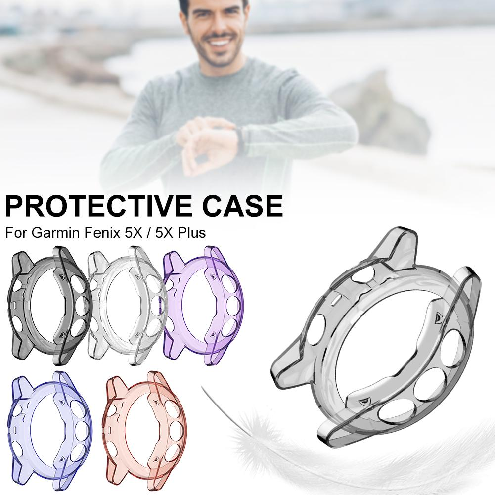 New High-quality Protective Case Soft Silicone Smart Watch Protector Cover Sleeve For Garmin Fenix 5XPlus 5X Watch Accessories