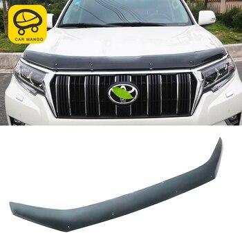 CarManGo for Toyota Land Cruiser Prado 150 2018 2019 Car Styling Front Hood Mud Flap Cover Trim Frame Pad Exterior Accessories