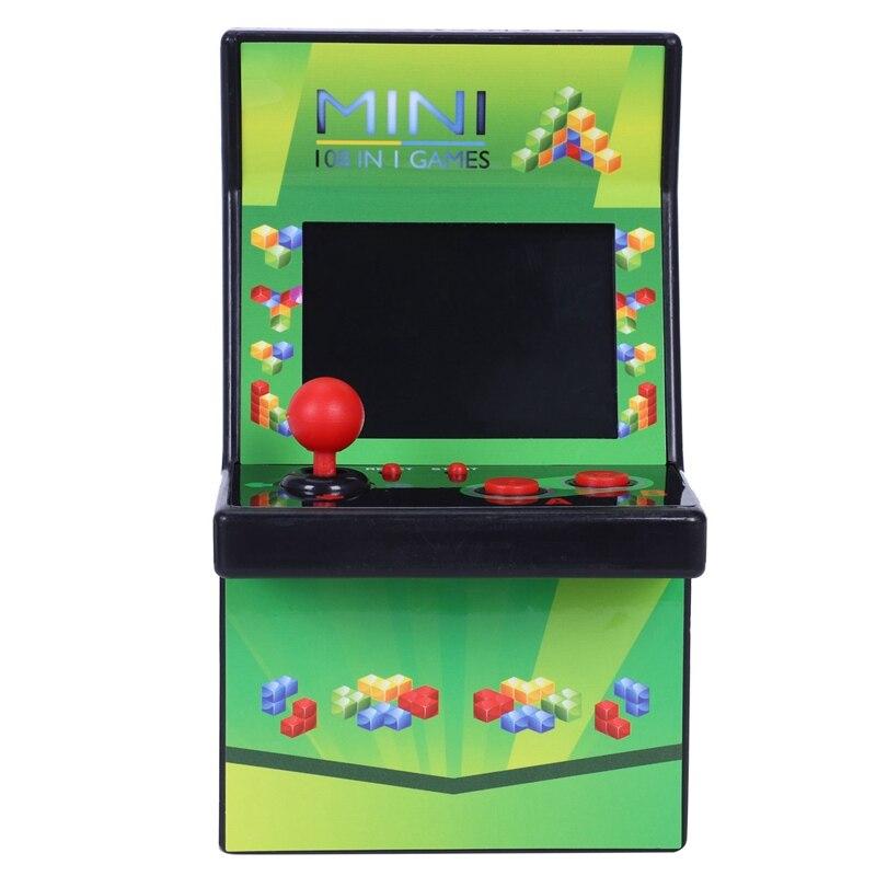 Mini Portable Arcade Joystick Machine Classical Retro Style 108 Video Game Built-in Arcade Game Console Handheld
