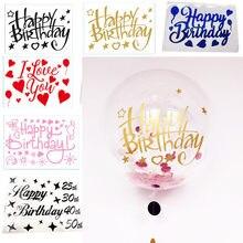 1 PIÈCES Sticker Ballon Bulle Ballons Bobo Clair D'hélium Bébé Douche Fête D'anniversaire Décoration De Mariage Accessoires De Fête Fournitures