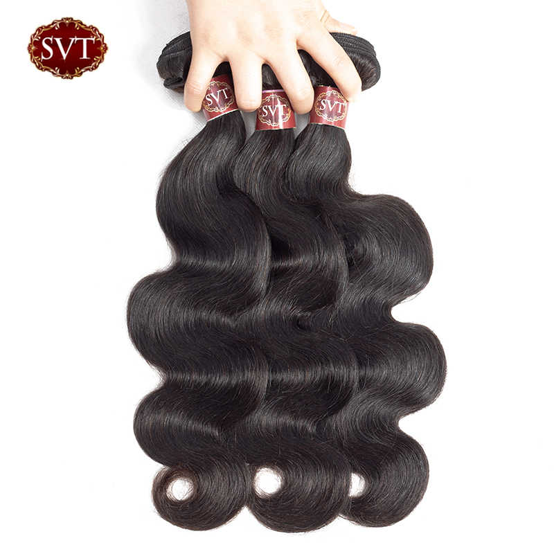 SVT Malaysian Body Wave Can Buy 1/3/4 100% Human Hair Bundles Extensions Non Remy Natural Black Hair Weave Bundle Deals