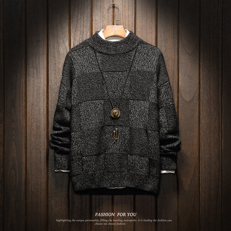 Men Sweaters Winter Clothes 2020 Plus Size Asian M-4XL 5XL 6XL Japan Style Casual Standard Designer Pullovers