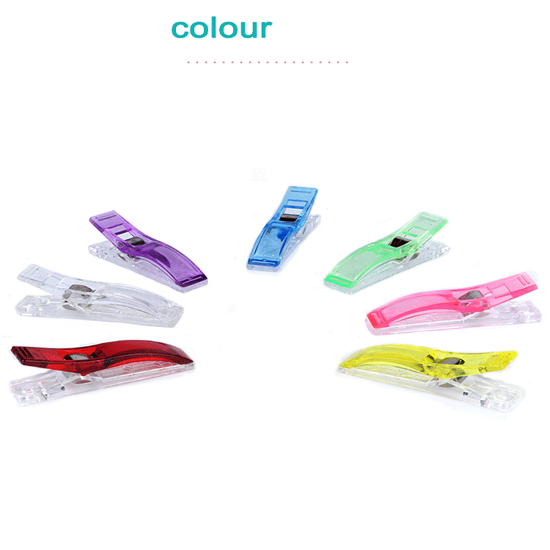 24Pcs Quilting Patchwork Binding Clamps Quilting Accessories DIY Plastic Garment Clips Sewing Knitting Clips