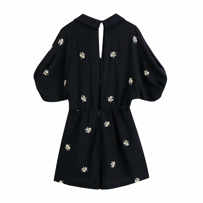 Женский комбинезон с цветочной вышивкой toppies, Летний Пляжный комбинезон с рукавами-фонариками