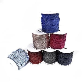 2mm Length 5m Nylon Cord Wrapped Metal Repair Thread Chinese Knot String DIY Beading Braided Bracelet Jewelry Making image