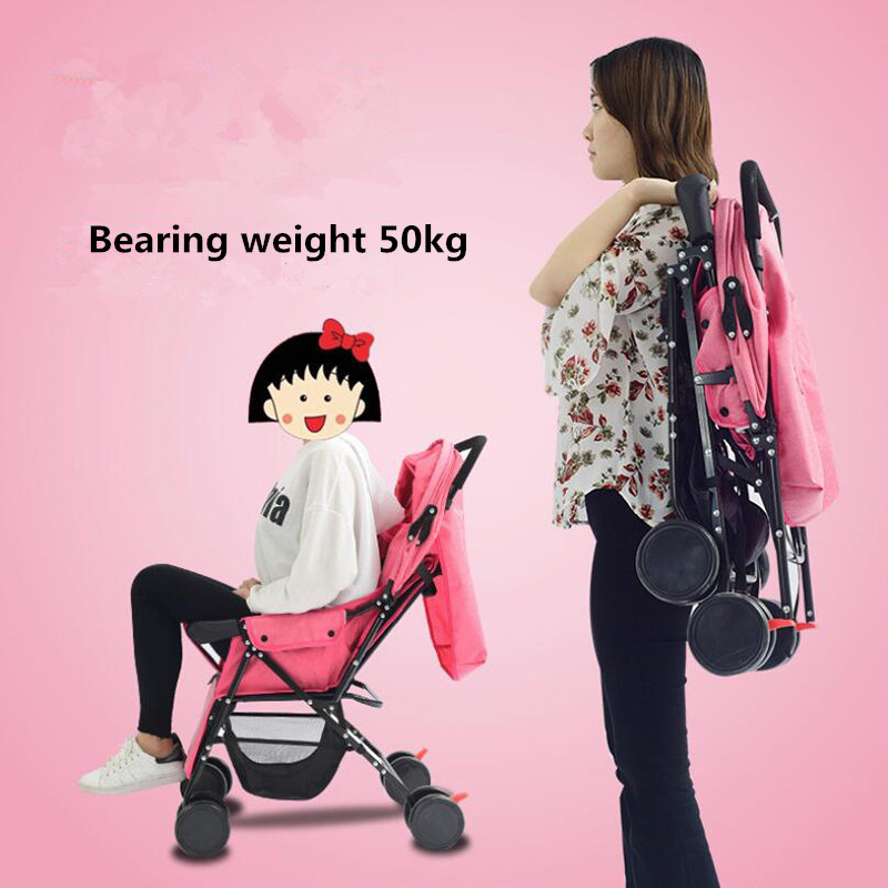 <font><b>Baby</b></font> Stroller Travel <font><b>Pram</b></font> For Newborn <font><b>3</b></font> <font><b>in</b></font> <font><b>1</b></font> Portable Folding Strollers Carriage High Landscape Four-wheel Multifunctional Buggy image
