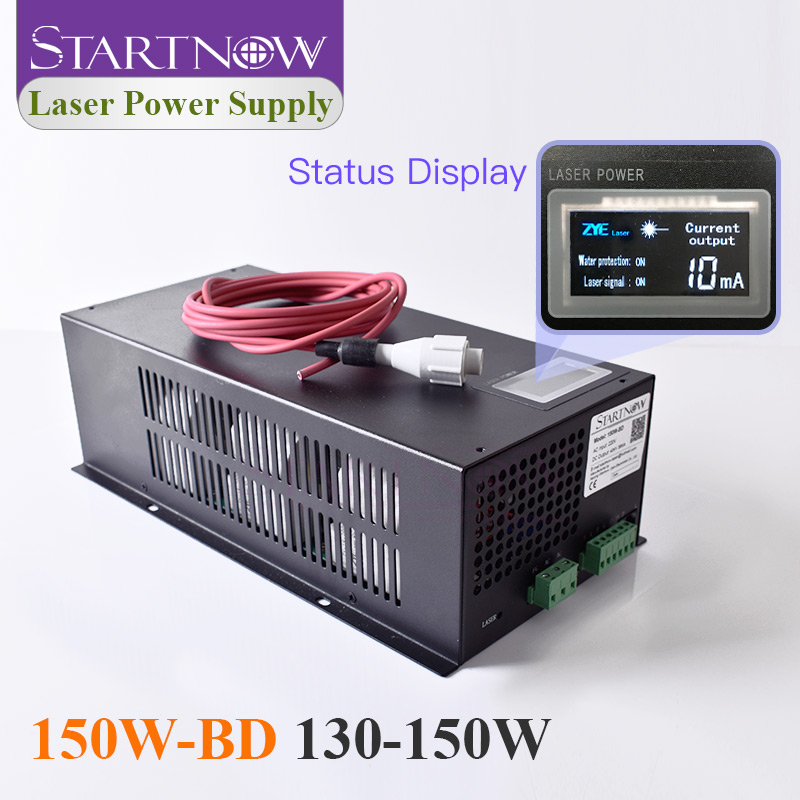 150W-BD Co2 Laser Device With Display Screen 130W 150W Co2 Intelligent Laser Power Supply For Laser Engraving Cutting Machine