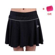 Женские летние спортивные шорты, Женская юбка размера плюс, шорты для бадминтона, теннисные фитнес-юбки с безопасными шортами для девочек