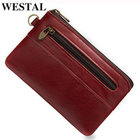 WESTAL leather coin purse/ wallet pochette mini purse small coin pouch/bag wallets for girls mini coin purse porte monnaie 8118