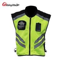Riding Tribe Motorcycle Reflective Vest Motorbike Safty Clothes Moto Warning High Visibility Jacket Waistcoat Team Uniform JK 22