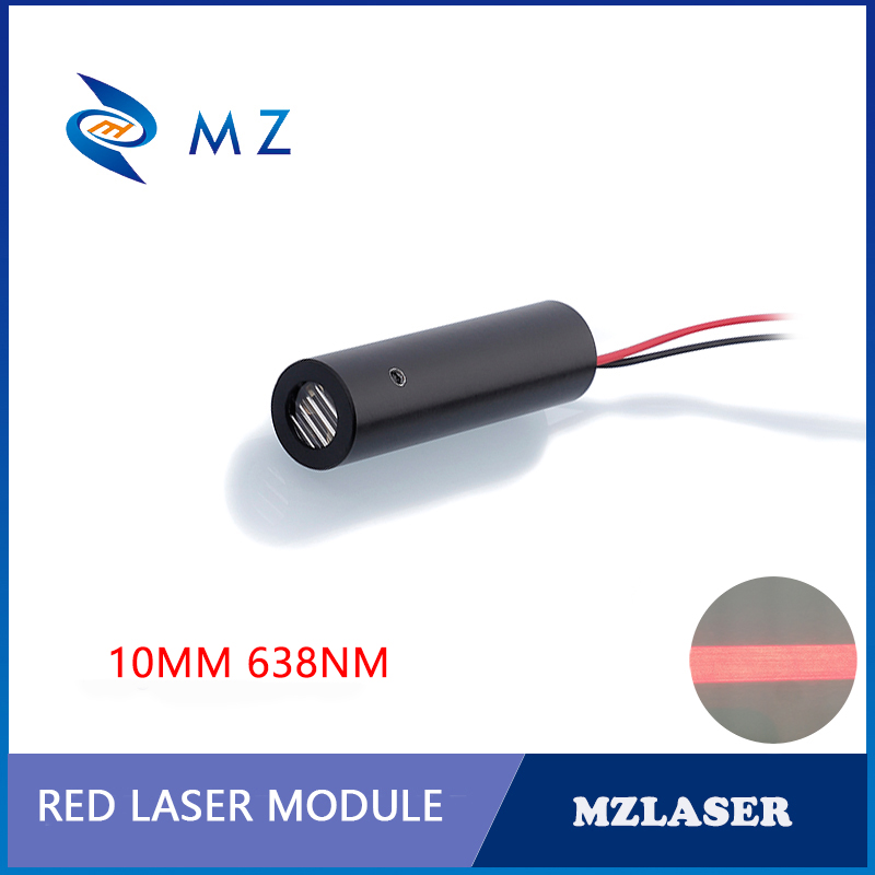 10mm 638nm 100mw 200mw High-power Red Line Industrial Grade Laser Module
