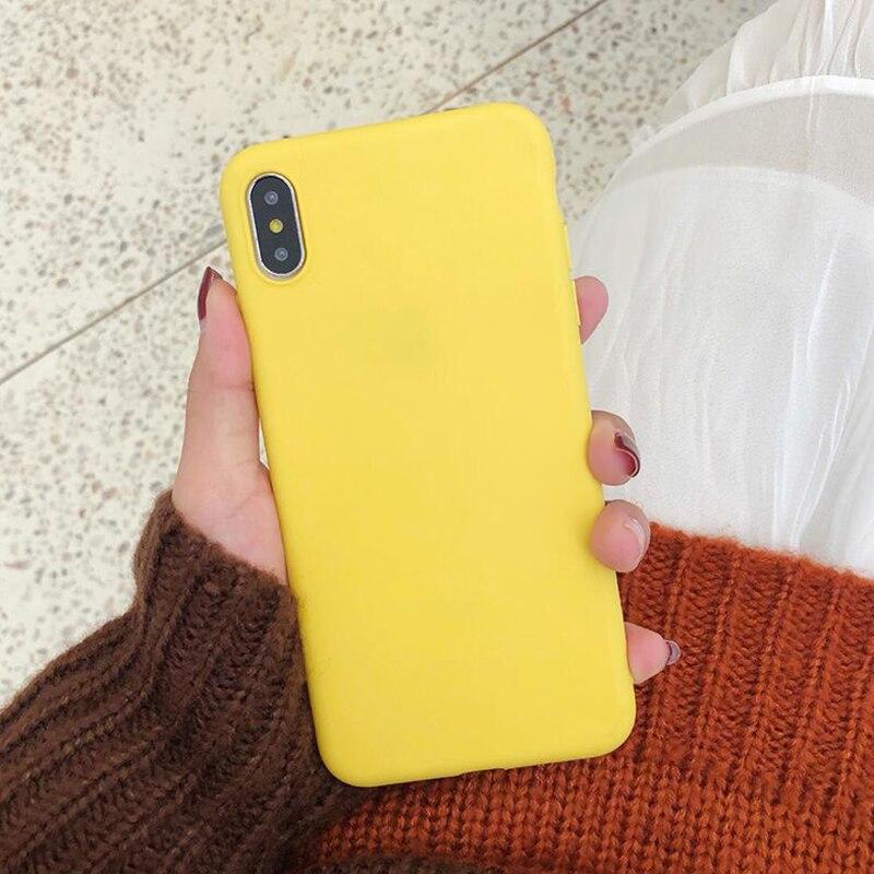 Candy Color Phone Case For Samsung A10 A20 A30 A40 A50 A70 A750 A5 A7 A8 J5 J7 2017 2018 J4 Plus Note 9 10 Pro S10 Plus S9