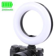 Ulanzi-Anillo de luz LED recargable con zapata fría para móvil, anillo de luz LED para vídeo, vídeo, Vlog, Youtube