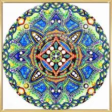 5D DIY Diamond Painting Mandala Diamond Embroidery Round Shinny Beads Picture Of Rhinestone Painting Christmas Home Decoration