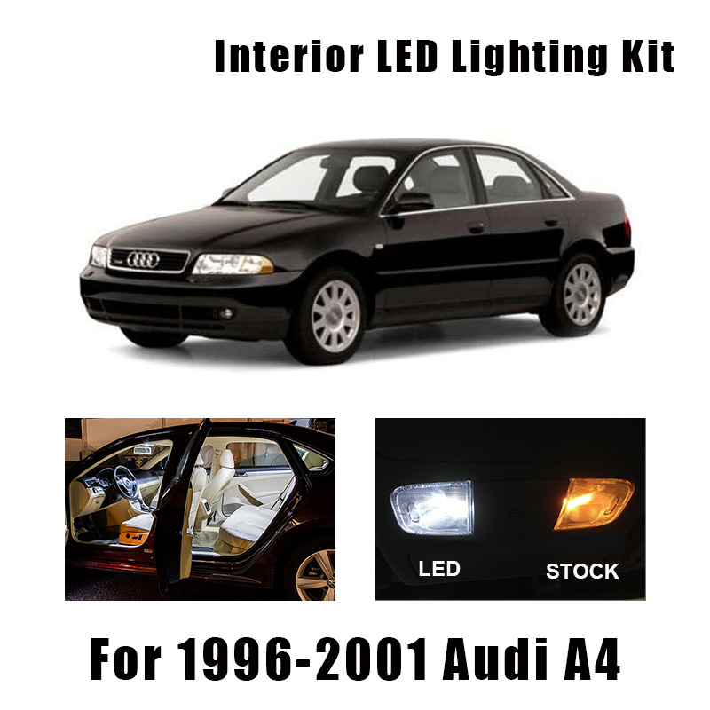17pcs Error Free Car LED Interior Light Reading Bulbs Kit Fit For 1996-<font><b>1999</b></font> 2000 2001 <font><b>Audi</b></font> <font><b>A4</b></font> <font><b>B5</b></font> Map Dome License Plate Lamp image