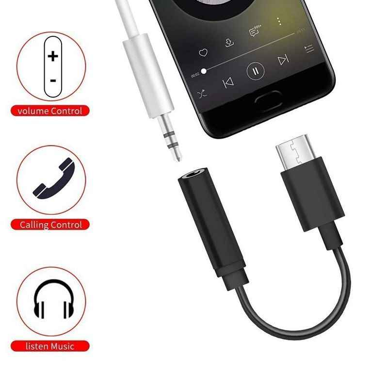 Hot 3C-USB C a 3.5 Mm per Cuffie/Auricolare Cavo Adattatore Martinetti, tipo C 3.1 Port Maschio a 3.5 Mm Femmina Cuffia Audio Stereo Aux con