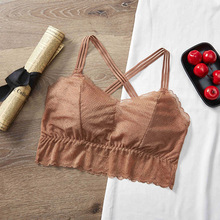 Crop Top Lingerie Padded Underwear Tank-Top Lace Camisole Bralette Seamless Female Sexy