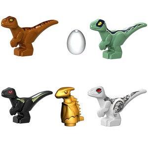Image 2 - 2020 Jurassic World Park Dinosaurs Indoraptor Pterosauria Egg Baby Dino Building Block Bricks City Toys For Children