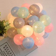 Cotton Balls Lights Lighting-Decoration Led-Fairy-Garland Leds Bedroom Holiday Christmas-Party
