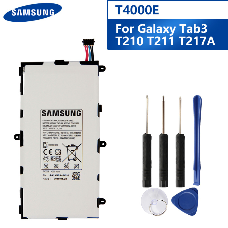 Samsung Original Replacement Tablet Battery <font><b>T4000E</b></font> For Samsung GALAXY Tab3 7.0 T210 T211 T2105 T217a T4000C T4000U 4000mAh image