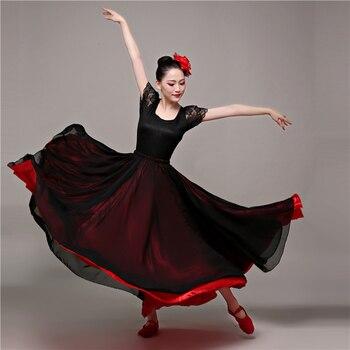 Spagnolo Costumi di Danza Del Ventre Gonna Flamenco per Corrida Festival Sala Da Ballo Gypsy Abiti per Le Donne Altalena Abiti
