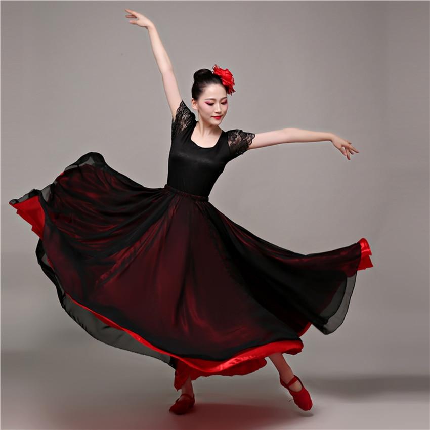 Spanish Belly Dance Costumes Flamenco Skirt For Dancing Bullfight Festival Ballroom Gypsy Dresses For Women Swing Vestidos