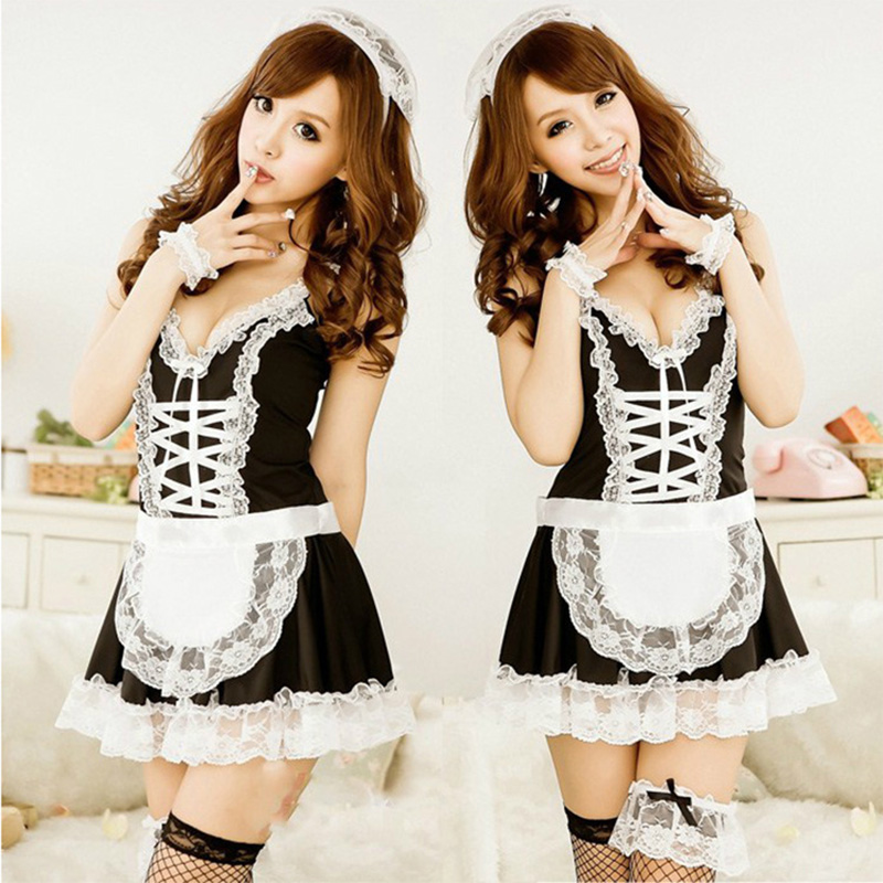 Women s Sexy Lingerie Hot Cosplay Maid Uniform Temptation Erotic Costumes Underwear font b Lenceria b