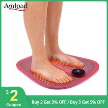 Máquina masajeadora de pies recargable por USB, vibrador de fisioterapia ABS, esterilla de masaje de pies Estimulador muscular inalámbrica