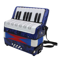 Hot New Mini Small 17 Key 8 Bass Accordion Educational Musical Instrument Toy for Kids Children Amateur Beginner Christmas Gift