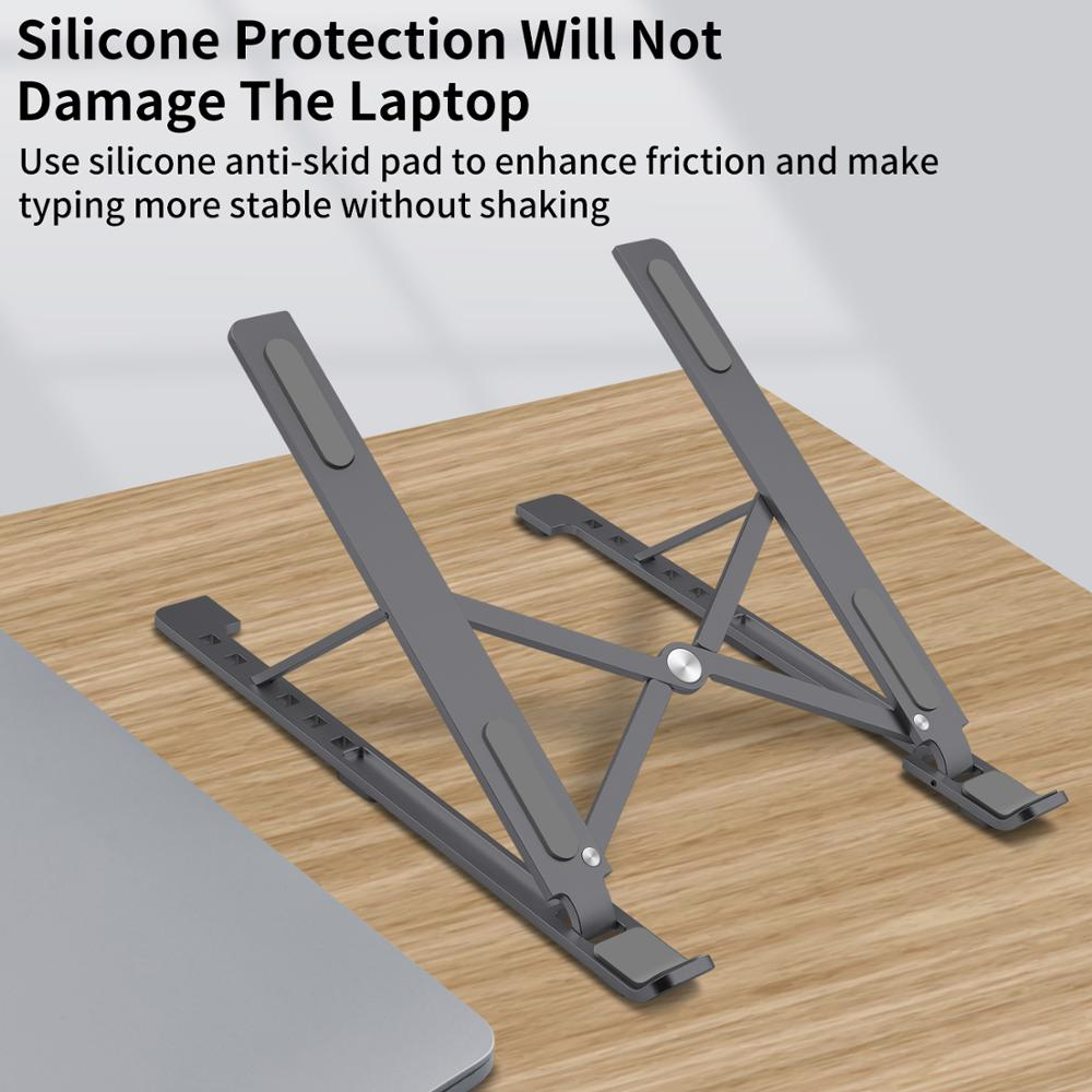 Laptop Stand for MacBook Pro Notebook Stand Foldable Aluminium Alloy Tablet Stand Bracket Laptop Holder for Notebook For iPad