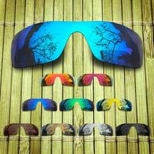 Polarized Replacement Lense For-Oakley Batwolf Sunglasses Frame True Color Mirrored Coating - Options(China)