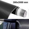Виниловая 3D пленка из углеродного волокна 300 мм x 2000 мм, автомобильная наклейка, водонепроницаемая автомобильная пленка для стайлинга автом...