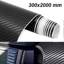Film vinyle autocollant 3D en Fiber de carbone, 300x2000mm, enveloppe de style automobile étanche, accessoires de détail pour véhicule et moto