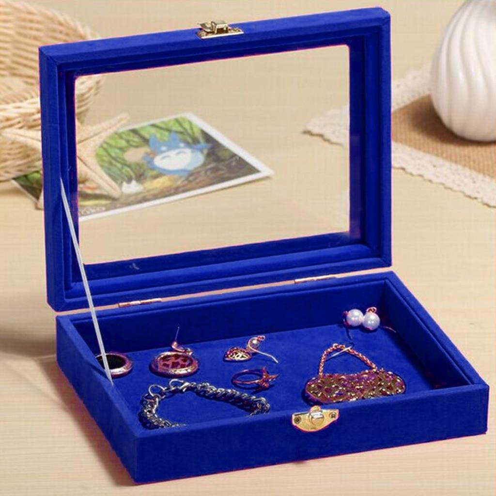 Luxurious Large Velvet Jewelry Box Case Storage Holder