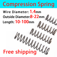 Return Spring Pressure Spring Release Spring Compressed Spring Wire Diameter 1.4mm  Outer Diameter 8-22mm Widely Size